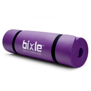 Bixle®-12-inch-Extra-Thick-15mm-72-inch-Long-High-Density-Exercise-Yoga-Mat-with-Comfort-Foam-and-Carrying-Straps-Purple-0