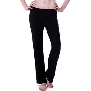 HDE-Womens-Slimming-Fold-Over-Rolled-Waist-Yoga-Pants-Plus-Sizes-Available-0