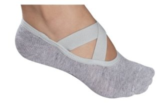Lupo-Essential-No-Slip-Crossover-Yoga-Pilates-Socks-Grey-One-Size-0