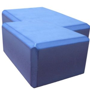 Nu-Source-Yoga-Block-2-Piece-Sky-Blue-9-x-6-x-4-Inch-0
