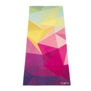 The-Geo-Hot-Yoga-Towel-by-Yoga-Design-Lab.-Mat-sized-Lightweight-Insanely-Absorbent-Non-slip-Non-fade-Microfiber-Yoga-Towel-That-Dries-in-Minutes.-Printed-w-Water-Based-Eco-Friendly-Inks.-72-x-24.-Money-Back-Guarantee-0