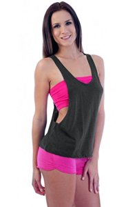 Womens-Juniors-Open-Sides-Sleeveless-TANK-TOP-HEATHER-CHARCOAL-0