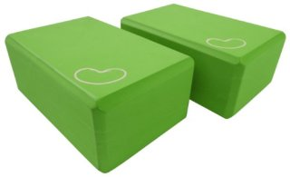 Yoga-Block-2-pack-4-in.-x-6-in.-x-9-in.-Larger-Size-High-Quality-Green-by-Bean-Products-0