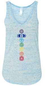 Yoga-Clothing-For-You-Ladies-Colored-Chakras-Flowy-V-Neck-Tank-Top-0