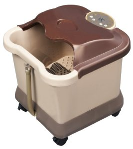 Carepeutic-Deluxe-Motorized-Foot-and-Leg-Spa-Bath-Massager-Light-Burgundy-0