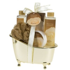 White-Rose-Jasmine-Gold-Tub-Spa-Bath-Gift-Set-0
